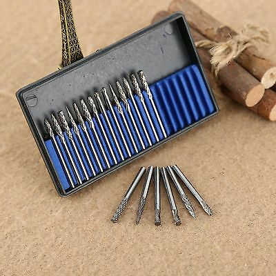 20X 3x3mm Drill Bits Burrs Tungsten Steel Solid Carbide Carving Rotary Tool Set
