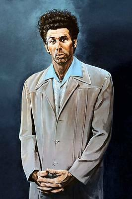 "SEINFELD Kramer `THE KRAMER' painting blue CANVAS PRINT Art Poster 18""X 24"""