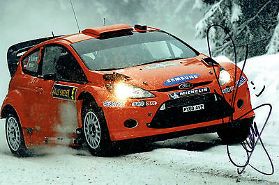 Henning SOLBERG SIGNED WRC Rally Car AUTOGRAPH 12x8 Ford Fiesta Photo AFTAL COA