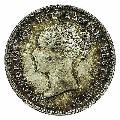 Queen Victoria Silver Maundy Fourpence 1857