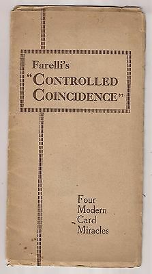 FARELLI'S CONTROLLED COINCIDENCE by Victor Farelli