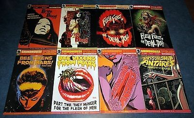 GRINDHOUSE doors open at midnight #1 2 3 4 5 6 7 8 1st print SET DARK HORSE 2014