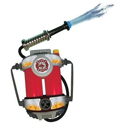 Fire Hose Squirt Gun & Backpack Kids Fireman Toy Firefighter Costume Acsry
