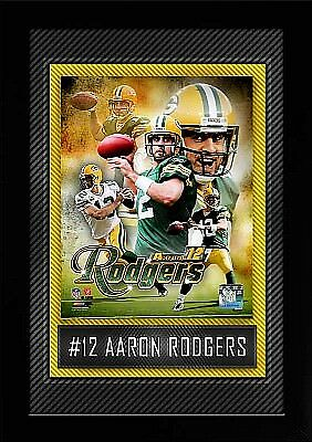 Aaron Rodgers Green Bay Packers Collage,High Quality Wandbild,45cm,NFL Football