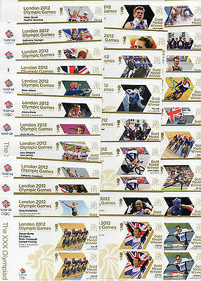 GB 2012 OLYMPIC PARALYMPIC  COMPLETE  singles / pairs / blocks  multiple listing
