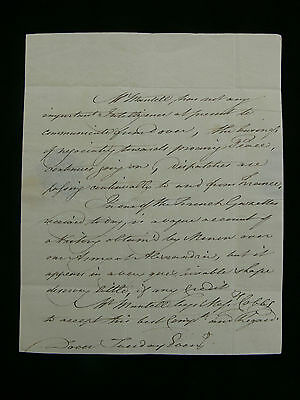 1801 Military Intelligence Report from Dover - French Victory at Alexandria