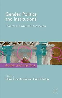NEW Gender, Politics and Institutions by Paperback Book (English) Free Shipping