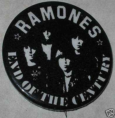 The Ramones End of the Century Tour Pin Approx 1.75""