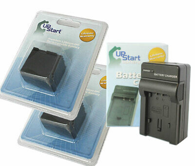 2x Battery +Charger for Canon HF G20, VIXIA HF20, HG20, HF S10, HFS100, HF21