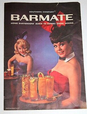 1965 Playboy Playmate Southern Comfort Barmate Home Bartenders' Guide