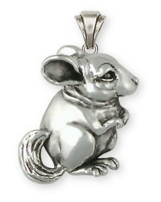 Large Sterling Silver Chinchilla Pendant Jewelry  CL1-P