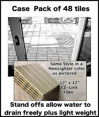 PACK of 6- EZ Deck Tiles Outdoor/Indoor Flooring-all Hard Surfaces, Patio & Deck