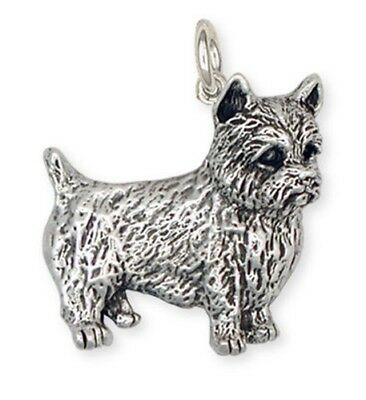 Solid Sterling Silver Norwich Terrier Charm Jewelry NT3-C