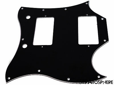 * NEW Black PICKGUARD for USA Gibson SG Standard Guitar 3 Ply 11 Hole