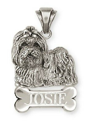 Personalized Sterling Silver Maltese Dog Pendant Jewelry - ML13NP