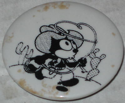 "Approx 1.75"" Felix the Cat Cowboy Pin - Has Spots"