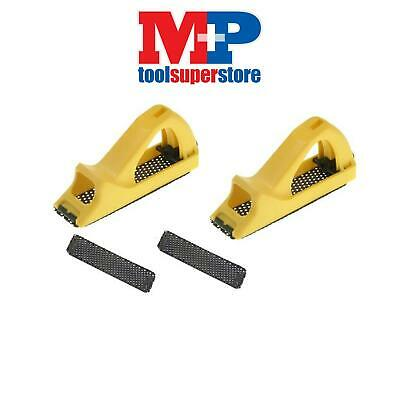 Stanley Tools 521104 Moulded Body Surform Block Plane + 2 Spare Blades **PACK 2*