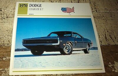 1970 DODGE CHARGER R/T  Colour Collector Card