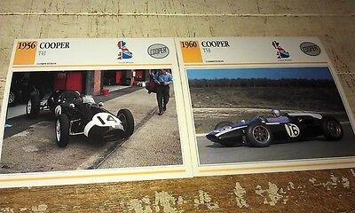COOPER  RACE  Cars  Colour Collector Cards x 2