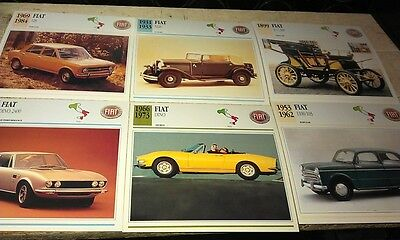 FIAT Cars  Colour Collector Cards x13 - DINO Topolino etc