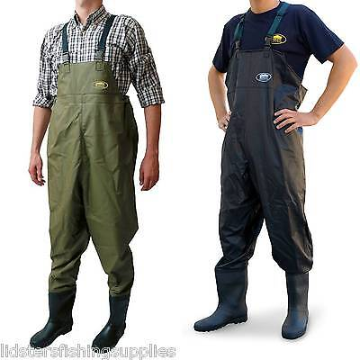 New Lineaeffe PVC Chest Waders size 8 9 10 11 12 Carp Fly Coarse Fishing Tackle