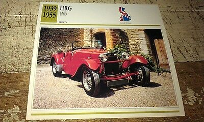 HRG 1500 Sports Car  Colour Collector Card