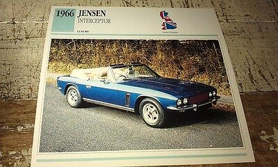 JENSEN INTERCEPTOR Colour Collector Card