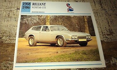 RELIANT SCIMITAR GTE   Colour Collector Card