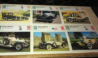 ROLLS ROYCE  Cars  Colour Collector Cards x 9