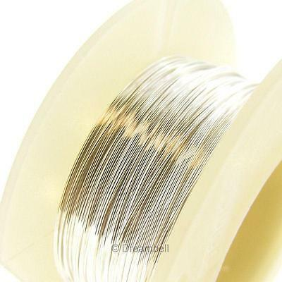 5FT .925 fine STERLING SILVER Round WIRE 26GA Half hard 26 GAUGE