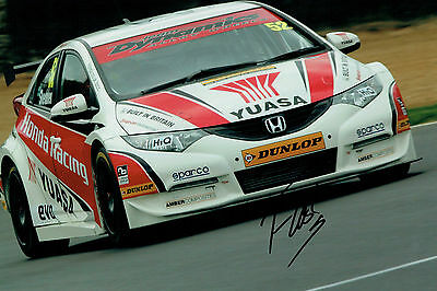 Gordon SHEDDEN SIGNED AUTOGRAPH British Touring Car HONDA 12x8 Photo AFTAL COA