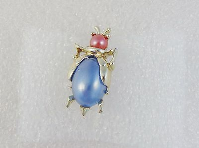 Vintage Jelly Belly Lucite Faux Pearl BROOCH Estate Repair Blue Pink Lot L923