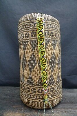 #17 GIANT OLD AJAT BASKET Native Backpack Sling Bag  Pouch & COLORFUL BEADS