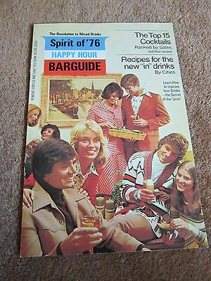 """1970's Bar Guide """"in"""" Drinks Southern Comfort Spirit of '76 Vintage Collectible"""