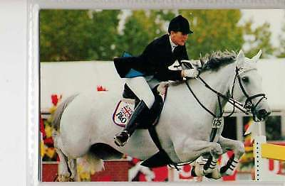 #124 Kelly Brown GBR Jumping equestrian collector card
