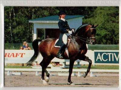 #73 Louise NathhorstSWE Dress equestrian collector card