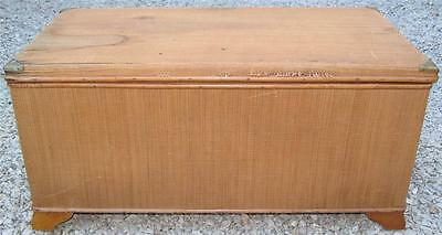 Vintage Wood Brown Wicker Cedar Chest Storage