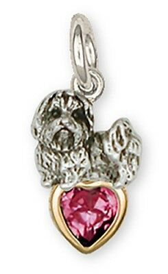 Personalized Sterling Silver Maltese Dog Charm Jewelry - ML5SC