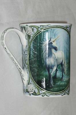 Anne Stokes Coffee Mug Cup bone China Gothic Fairy Fantasy Art Unicorn forest