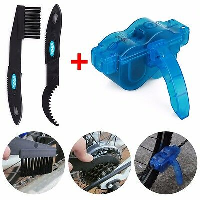 Cycling bike bicycle MTK 3d chain cleaner quick clean tool brushes scrubber kits