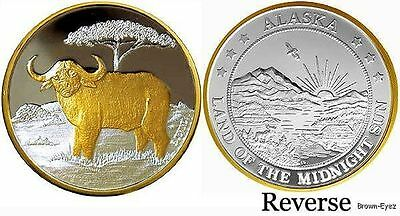 Alaska Mint CAPE BUFFALO Silver Medallion Proof 1Oz