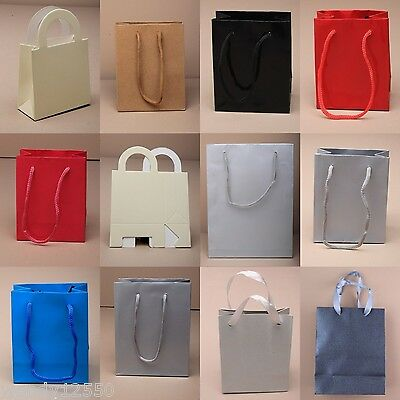10 Pc Plain Gift Bags, Wedding,birthday Present, Loot, Favour, Cheapest On Ebay