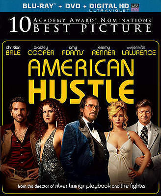 AMERICAN HUSTLE BLU-RAY & DVD NEW SEALED CHRISTIAN BALE BRADLEY COOPER AMY ADAMS