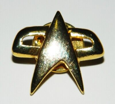Star Trek: Voyager Small Communicator Metal Gold Toned Pin, NEW UNUSED