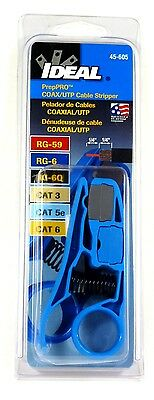 45-605 IDEAL PrepPro Coaxial UTP RG6/6Q/59 Cable Stripper