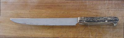 Vintage WALTCRAFT Hand-forged Carbon Steel/Stag Chef Slicing Knife - VERY SHARP!