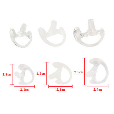 New 3 Pairs Silicone Earbud for Covert Acoustic Tube Earpiece Small/Middle/Large