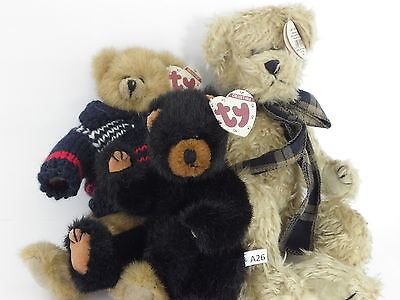 A26 TY Attic Treasures Malcolm with sweater, Ivan & Bearington with ribbon