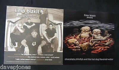 "LIMP BIZKIT Chocolate Starfish &... Flavored Water 2 2000 Promo Flats 12"" X 12"""