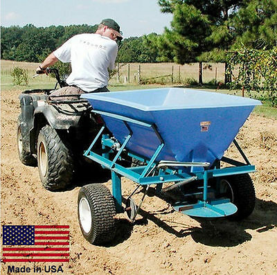 Tow Behind Broadcast Spreader - 800 lb Cap - Salt, Sand, Fertilizer, Seed, Etc